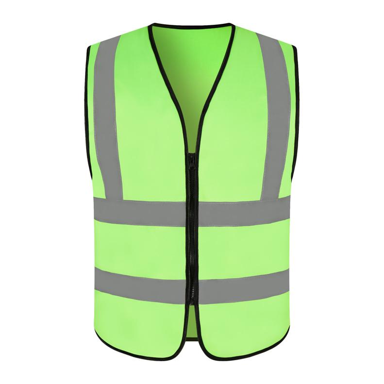 RF020 過肩無兜反光馬甲灰條反光馬夾背心定制環衛工反光背心路政交通安全警示衣印字印圖