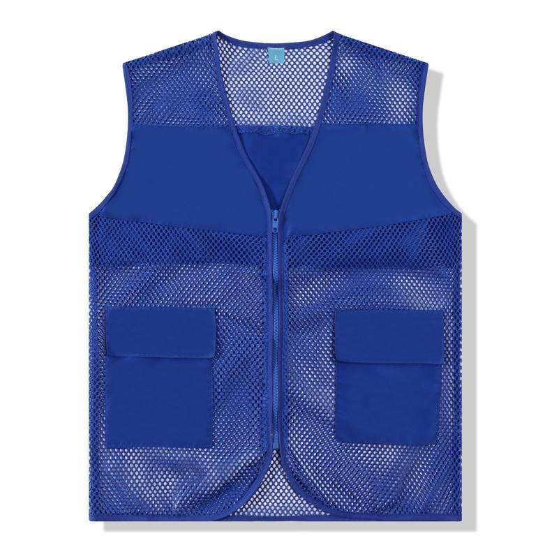 VM022,有口袋网布马甲8色透气网布志愿者马甲定制义工宣传背心马夹定做工作户外活动服印字