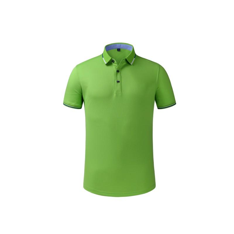 9911#陶瓷桑蠶絲T恤情侶裝運動有領polo衫男女翻領t恤夏定制印字logo聚會短袖工作服